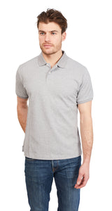 Polo Shirt Bird-Eye - Heather Grey