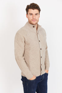 Diamond Knit Cardigan, 100% Lambswool