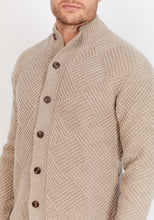 Load image into Gallery viewer, Diamond-Knit Lambswool Cardigan