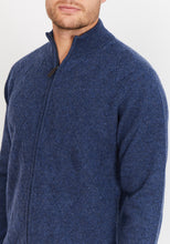 Load image into Gallery viewer, Diamond-Knit Lambswool Zip Up Jumper