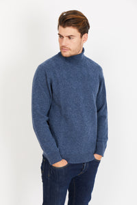 Diamond Knit Turtleneck, 100% Lambswool