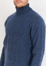 Load image into Gallery viewer, Diamond-Knit Lambswool Turtleneck Jumper