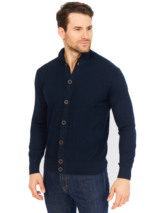 Ribbed Cardigan, 100% Cotton