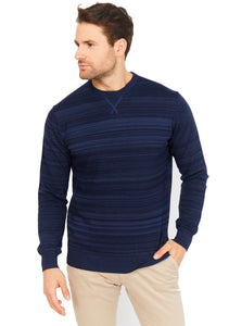 Cotton Blend Stripped Sweatshirt