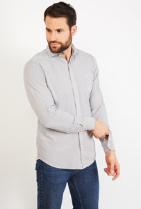 Long Sleeves Cotton Pique Shirt