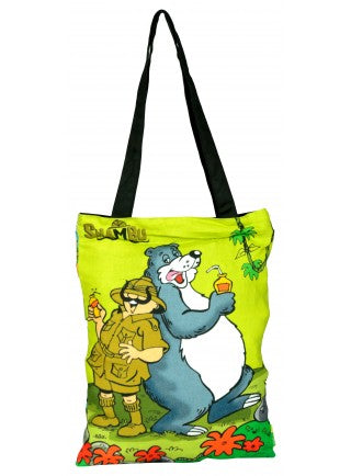 Shambu With Bear Cotton Tote Bag