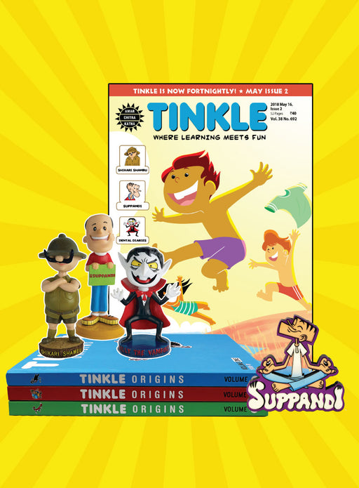 Tinkle Origins + Tinkle Magazine Subscription+ Merchandise Combo