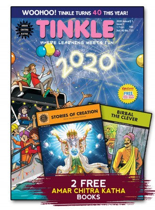 TINKLE MAGAZINE 1 YEAR SUBSCRIPTION (24 ISSUES) + 2 FOLKTALES COMICS FREE