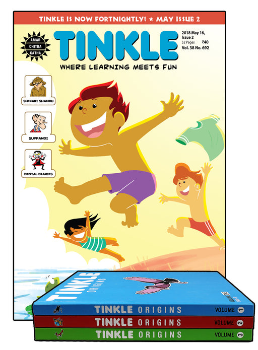 Tinkle Magazine 1 Year Subscription + Tinkle Origins Combo
