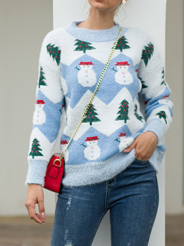 O-Neck Casual Long Sleeve Sweater