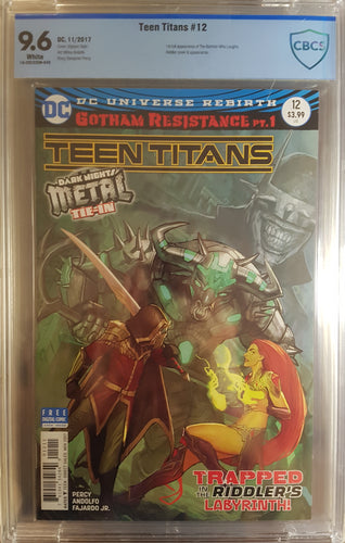 TEEN TITANS #12 CBCS 9.6 *FIRST BATMAN WHO LAUGHS*