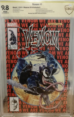 VENOM #1 MAYHEW MEGACON EXCLUSIVE CBCS 9.8 SIGNED CATES
