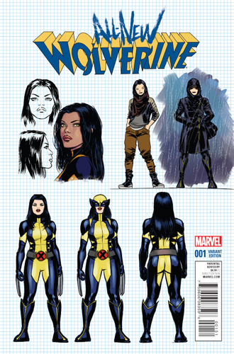 ALL NEW WOLVERINE #1 LOPEZ DESIGN VARIANT