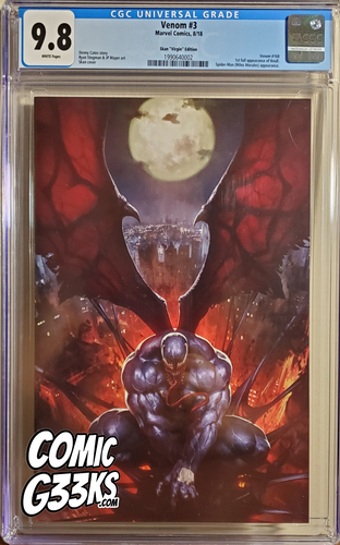 VENOM #3 SKAN VIRGIN EXCLUSIVE CGC 9.8 *1st FULL APP KNULL*
