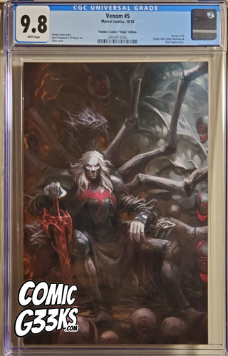 VENOM #5 SKAN VIRGIN EXCLUSIVE CGC 9.8