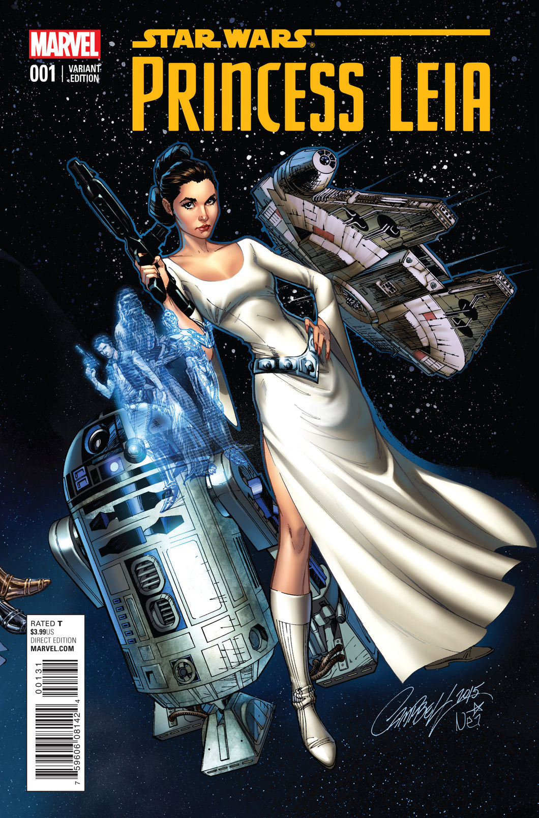 STAR WARS PRINCESS LEIA #1 CAMPBELL 1:50 CONNECTING COVER VARIANT