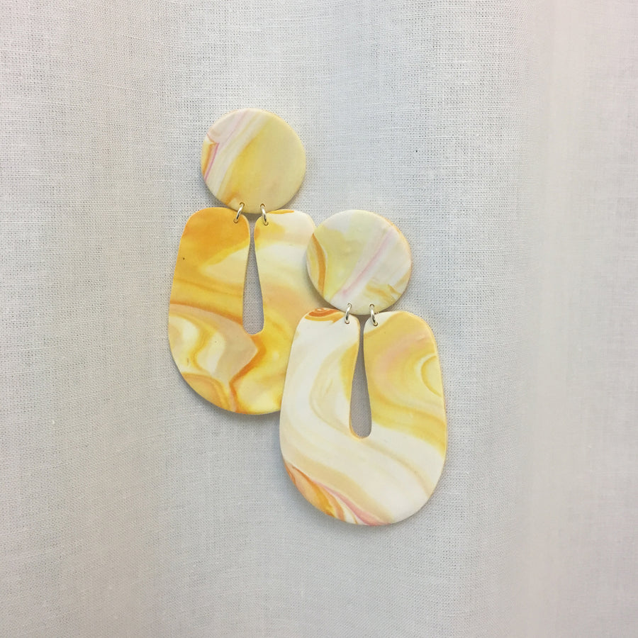 MARBLE CLAY EARRINGS