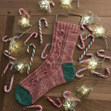 Candy Cane Sock Pattern (PDF)