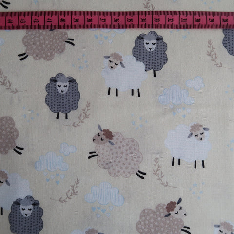 Spring Sheep Print Fabric