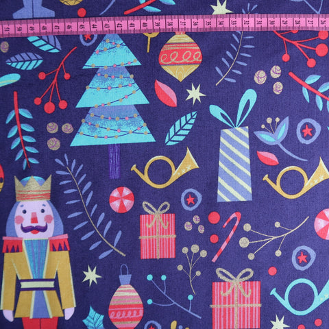 Nutcracker Print Fabric