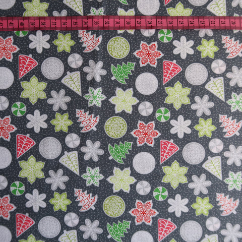 Christmas Biscuits Print Fabric
