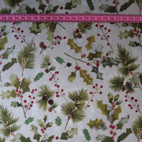 Holly Print Fabric