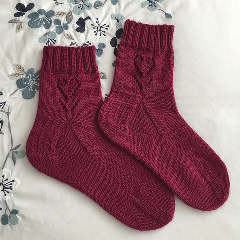 V for Valentine Sock Pattern (PDF)
