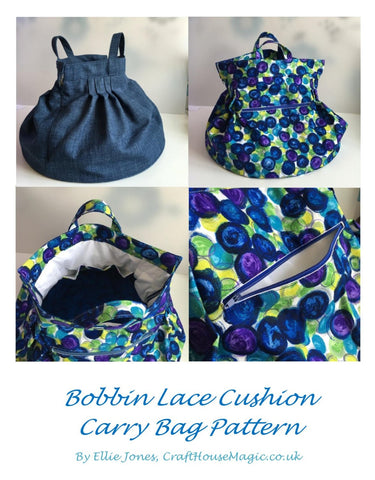 Bobbin Lace cushion carry bag sewing pattern (PDF with pattern piece print out)