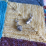 Coffee and cake stitch markers or progress keepers (set of 2)