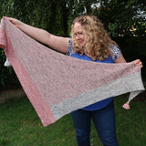 'Right Around the Corner' Shawl Yarn kit in Pink and Grey