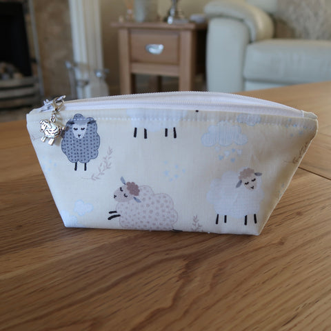 Spring Sheep print notions pouch
