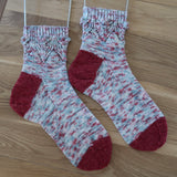 Mistletoe Kisses Sock Pattern (PDF)