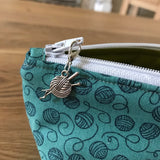 Yarn print notions pouch