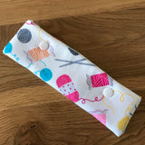 Knitting print DPN case / cosy