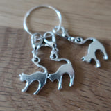 Cat stitch markers or progress keepers (set of 3)
