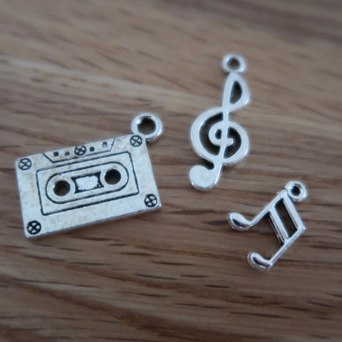 Music inspired stitch markers or progress keepers (set of 3)