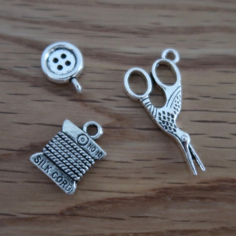 Sewing inspired stitch markers or progress keepers (set of 3)