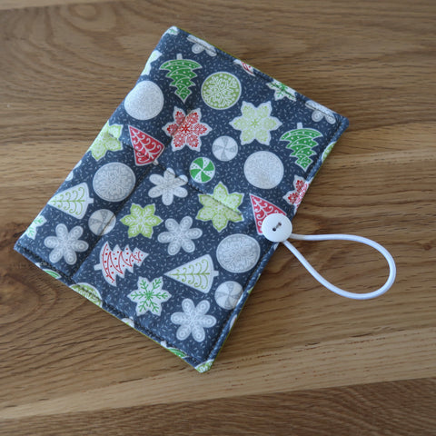 Christmas Biscuits print Circular Needle case