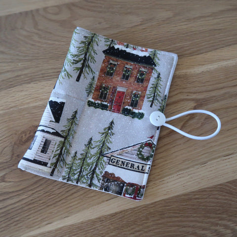 Snow Village print Circular Needle case