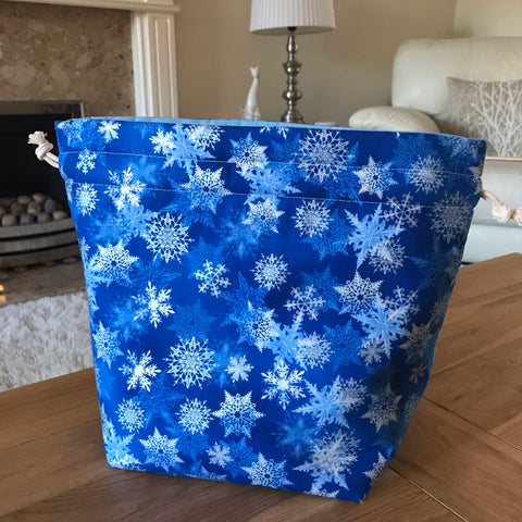 Snowflake Print Project Bag