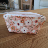 Coral Flower print notions pouch