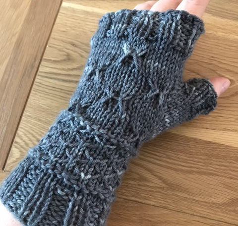 Country Garden Fingerless Mittens Pattern (PDF)