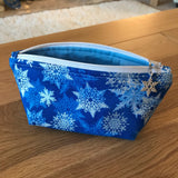 Snowflake print notions pouch