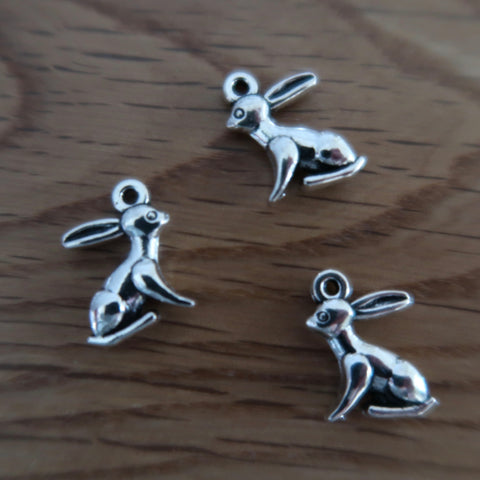 Hare stitch markers or progress keepers (set of 3)