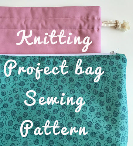 Knitting Project Bag Sewing Pattern (PDF)