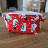 Snowman print notions pouch
