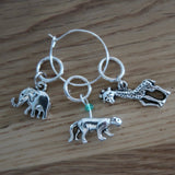 Born to be Wild stitch markers or progress keepers (set of 3)