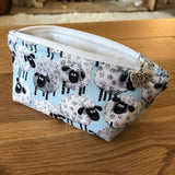 Sheep print notions pouch