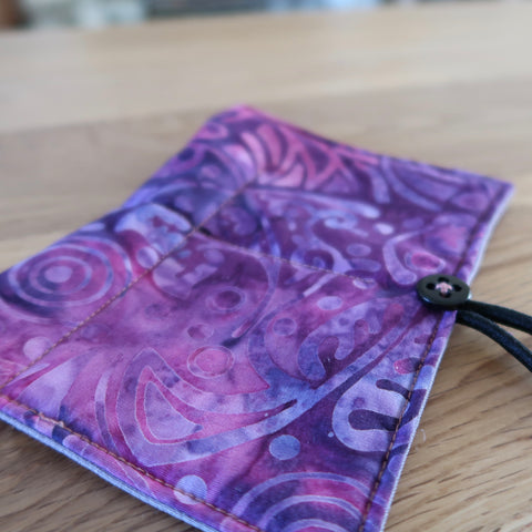 Purple Batik Circular Needle case