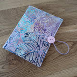 Pink / Blue Batik Circular Needle case